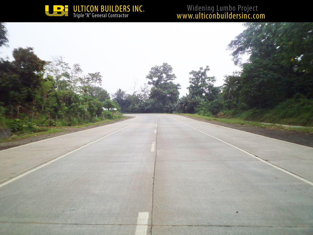 2 Widening Lumbo Project Ulticon Builders Inc