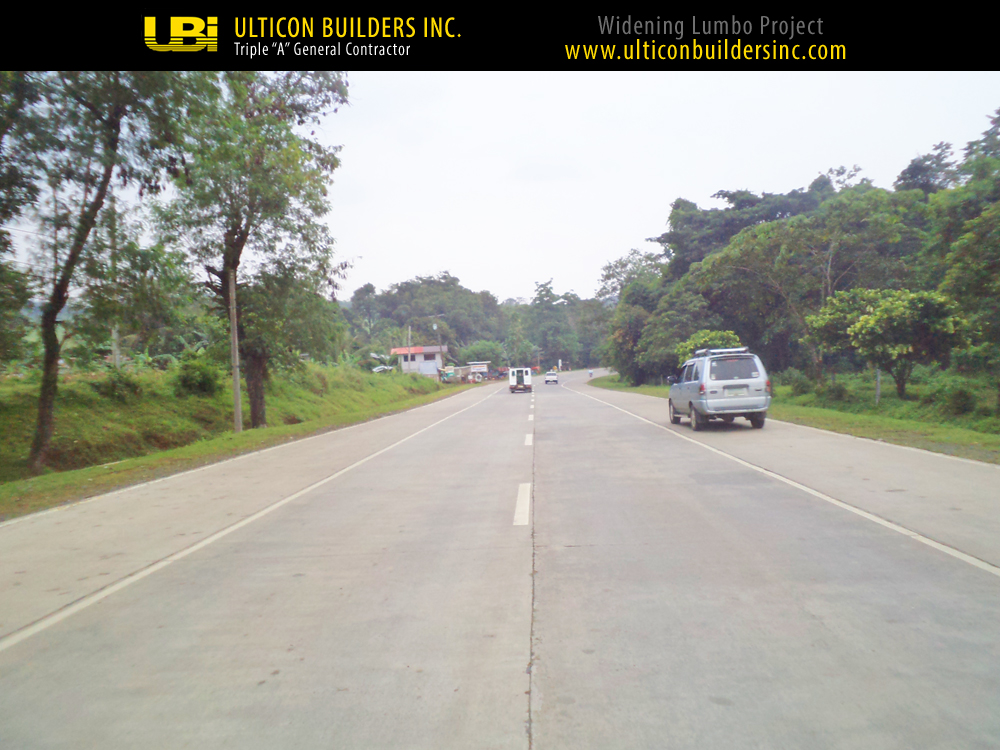3 Widening Lumbo Project Ulticon Builders Inc